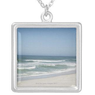 Hermosa vista de la playa contra el cielo claro 2 joyería