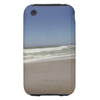 Hermosa vista de la playa contra el cielo claro 3 tough iPhone 3 funda