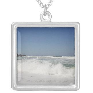 Hermosa vista de la playa contra el cielo claro grimpolas personalizadas