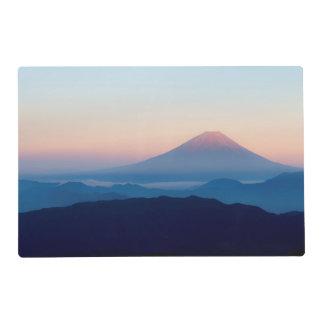 Hermosa vista el monte Fuji, Japón, salida del sol Tapete Individual