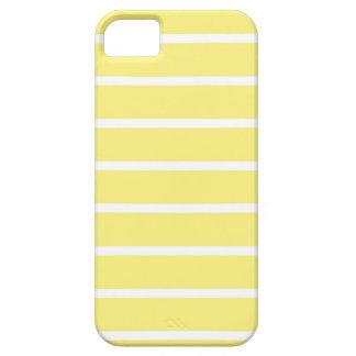 Hermosas lineas blancas y amarillas para tu iPhone iPhone 5 Case