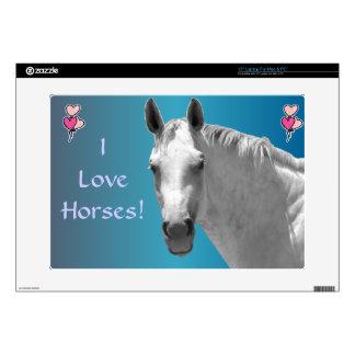 Hermoso Dapple el caballo gris Calcomanías Para Portátiles