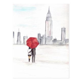 Hermoso de moda fresco de Nueva York de los pares Postales