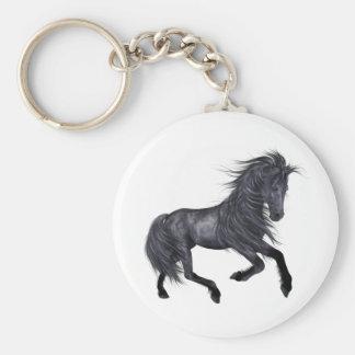 ♥ hermoso del caballo del ♥ (diseño F) Llavero Redondo Tipo Pin