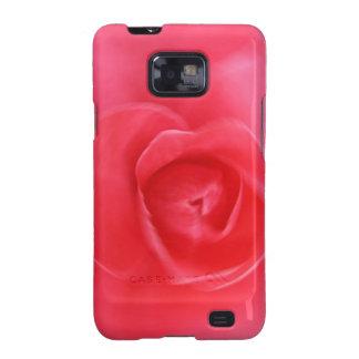 hermoso diseño radial color de rosa del arte del r samsung galaxy s2 carcasa