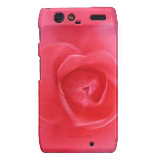 hermoso diseño radial color de rosa del arte del r motorola droid RAZR funda