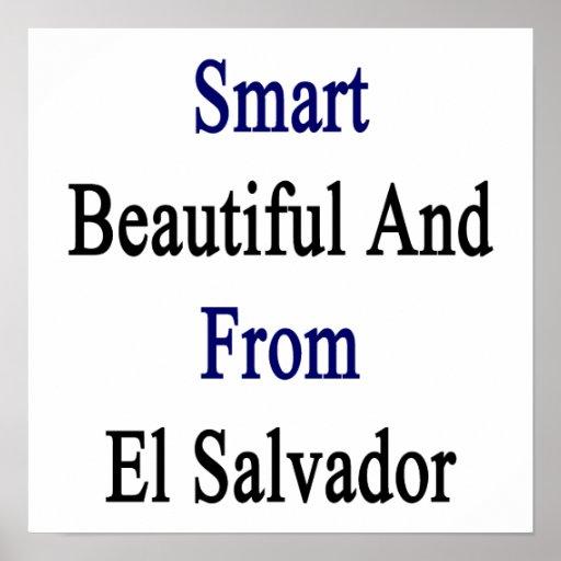 Hermoso elegante y de El Salvador Póster