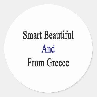 Hermoso elegante y de Grecia Pegatina Redonda