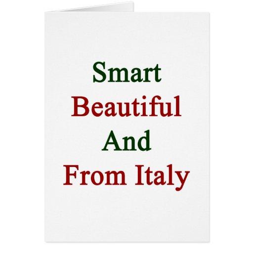 Hermoso elegante y de Italia Tarjetas