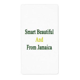 Hermoso elegante y de Jamaica Etiqueta De Envío