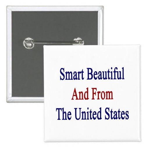 Hermoso elegante y de los Estados Unidos Pin Cuadrada 5 Cm
