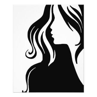 hermoso femenino del chica del retrato de la mujer flyer a todo color