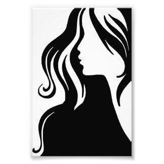 hermoso femenino del chica del retrato de la mujer fotografía