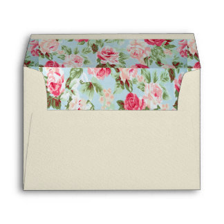 hermoso, floral, rosado, vintage, victorian, sobre