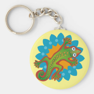 Hermoso lagarto verde, lizard keychain