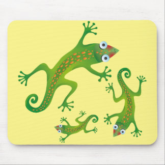 Hermoso lagarto verde, lizard mouse pad