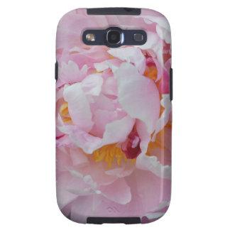 Hermoso palidezca - flor rosada del Peony - el jar Galaxy SIII Protector