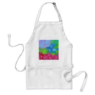 Hermoso, pintura-como, mezcla alegre de colores delantal