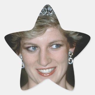 ¡Hermoso! Princesa de Gales de HRH Calcomanía Forma De Estrella Personalizadas