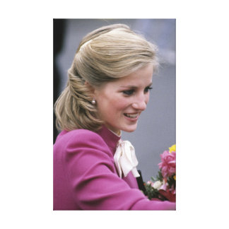 ¡Hermoso! Princesa Diana Ealing 1984 Lienzo Envuelto Para Galerias