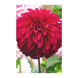 Hermoso toda la flor roja impresión en lienzo