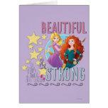 Hermoso y fuerte tarjetas