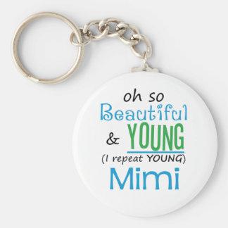 Hermoso y jóvenes Mimi Llavero Personalizado