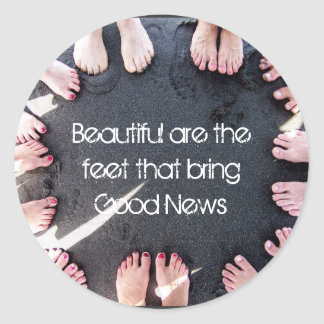 Hermosos son los pies pegatina redonda