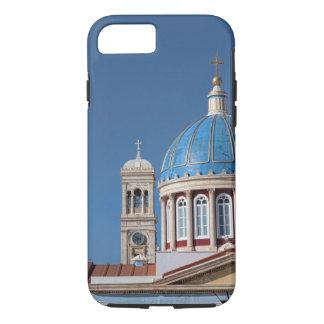 Hermoupolis, Syros Island, Greece. Blue dome of iPhone 8/7 Case