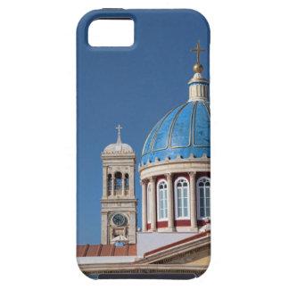 Hermoupolis, Syros Island, Greece. Blue dome of iPhone SE/5/5s Case