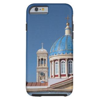 Hermoupolis, Syros Island, Greece. Blue dome of Tough iPhone 6 Case