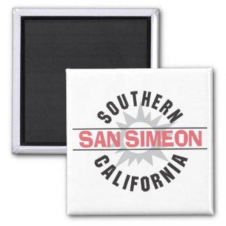 hern California - San Simeon 2 Inch Square Magnet