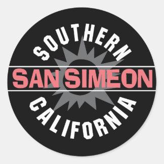 hern California - San Simeon Classic Round Sticker