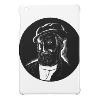 Hernan Cortes Conquistador Woodcut Case For The iPad Mini