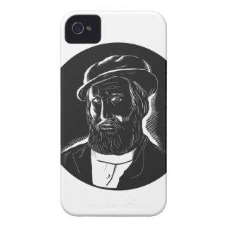 Hernan Cortes Conquistador Woodcut iPhone 4 Case-Mate Case
