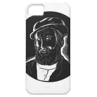 Hernan Cortes Conquistador Woodcut iPhone SE/5/5s Case