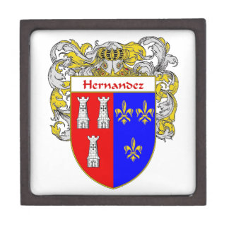 Hernandez Coat of Arms/Family Crest Jewelry Box