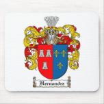 HERNANDEZ FAMILY CREST -  HERNANDEZ COAT OF ARMS MOUSE PAD