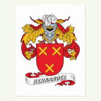 Hernandez Family Crest Postcard