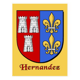 Hernandez Family Shield Postcard