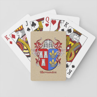Hernandez Heraldic Shield with Mantling Playing Cards