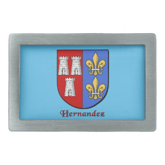 Hernandez Historical Family Shield Belt Buckle