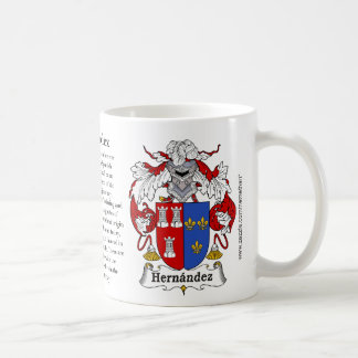 Hernandez, the origin, the meaning and the crest coffee mug