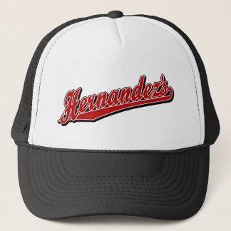 Hernandez's in Red Trucker Hat