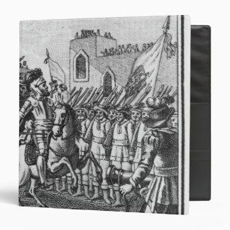 Hernando Cortes Reviewing his Troops Binder