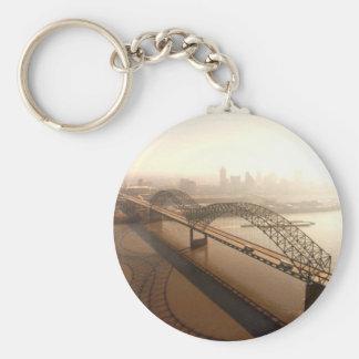 Hernando de Soto Bridge in Memphis Keychain