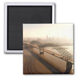 Hernando de Soto Bridge in Memphis Fridge Magnets