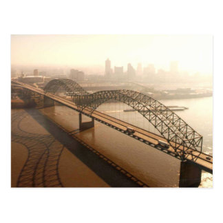 Hernando de Soto Bridge in Memphis Postcard