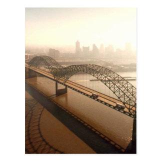 Hernando de Soto Bridge in Memphis Postcard