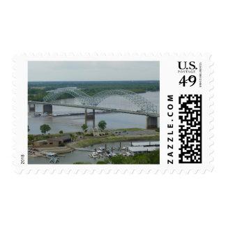 Hernando de Soto Bridge stamp (med)
